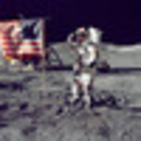 The U.S. achieves the first moon landing