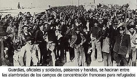 (Enero 1939) El gobierno de Negrín abandona Barcelona y se dirige a Figueras (Gerona) poco antes de que la capital catalana cayera en manos franquistas.