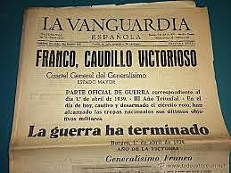 El general Franco hace público el último parte bélico el día 1: la guerra ha terminado con la victoria de quienes se habían sublevado tres años antes.