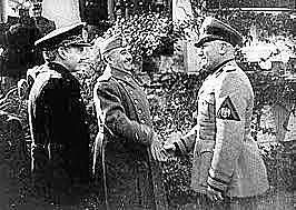 Diciembre de 1936Los primeros soldados italianos, enviados por Mussolini, llegan a para ayudar a las fuerzas franquistas.