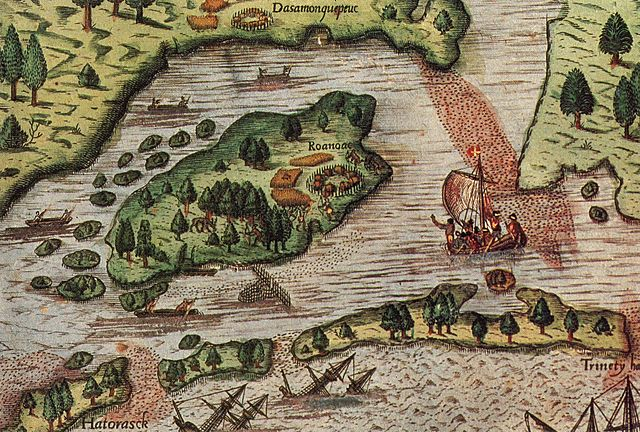 The English establish their first colony and it disappears.