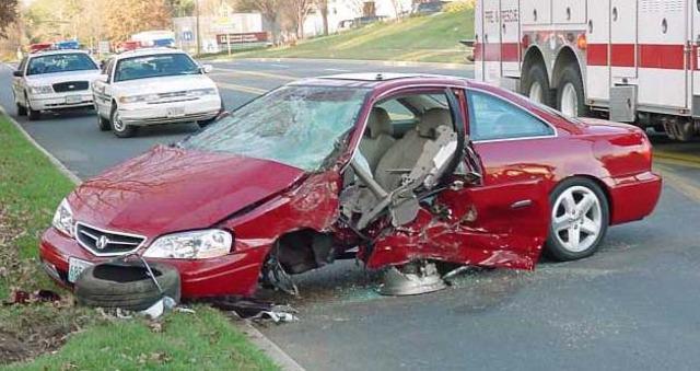 Got in a car accident. Broke my neck..