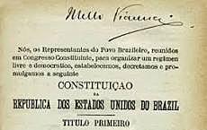 A PRIMEIRA CONSTITUIÇÃO REPÚBLICANA