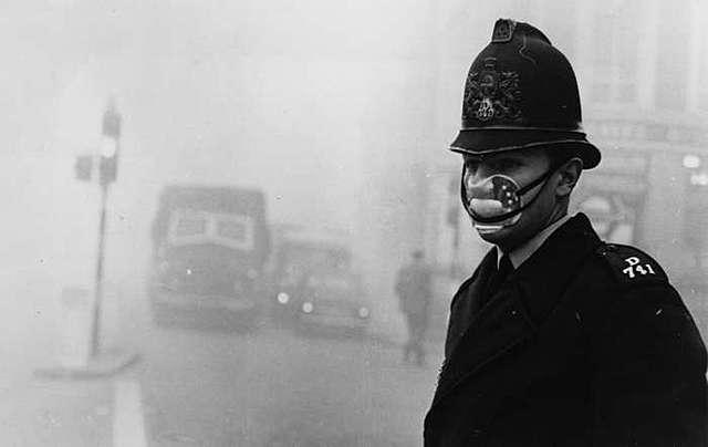 A grande poluição em Londres