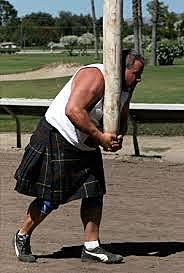 Scotland Caber Tossing