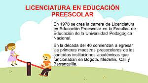 REACIÓN DE LA CARRERA EDUCACIÓN PREESCOLAR