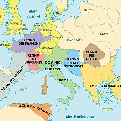 Regni romano-barbarici timeline