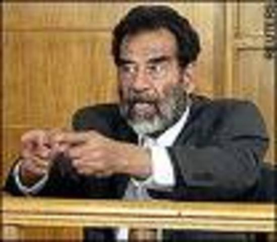 Saddam Hussein goes on trial