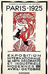 Exposició Internacional d'Arts Decoratives de París.