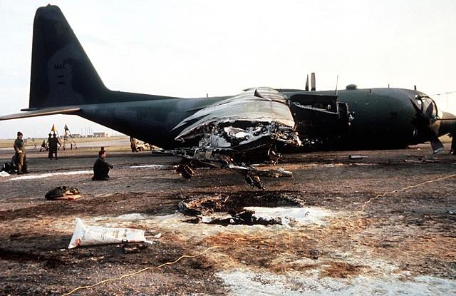 Crash landing of C-130E Hercules 68-10946