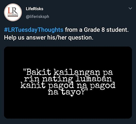 #LRTuesdayThoughts launched