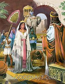 Queen of Sheba visits Solomon