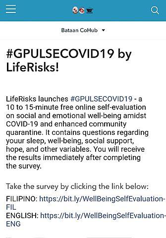 Bataan CoHub featured #GPULSECOVID19