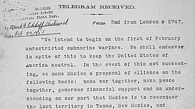 The Zimmerman Letter