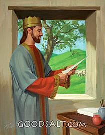 David Writes Psalm 23