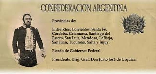 Urquiza Presidente de la Confederación