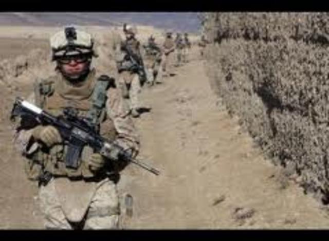 The war begins in Afghanistan