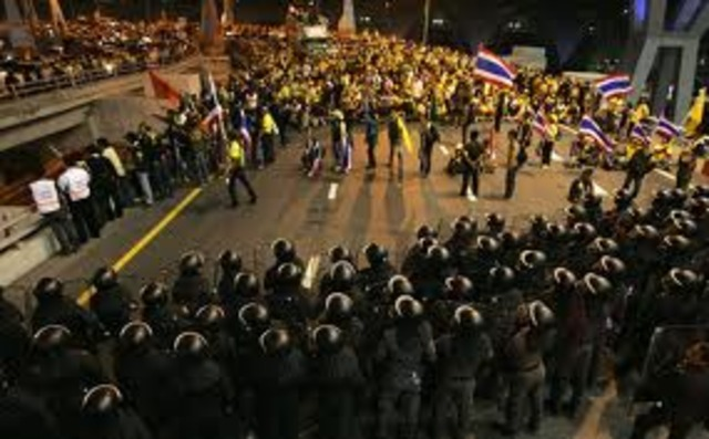Protests in Bangkok, Thailand ends in a bloody military crackdown