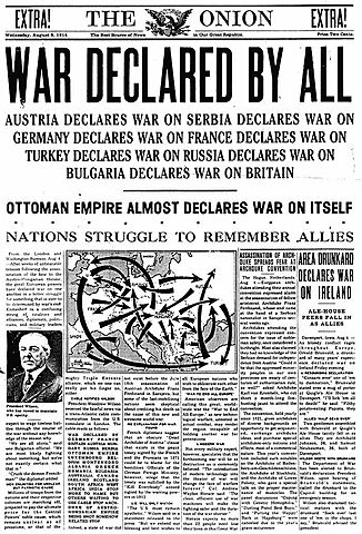 Britain and France declare war on the Ottoman Empire.