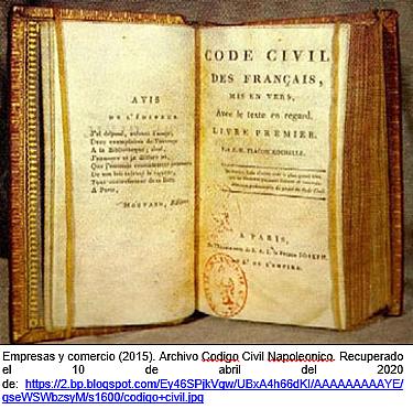 Napoleón expide el código civil.