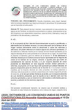 Reforma al artículo 72 Constitucional.