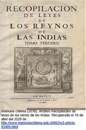 Se recopilan las leyes de los reinos de Las indias