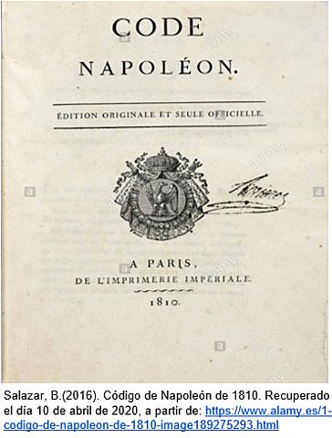 Napoleón expide el código Penal.