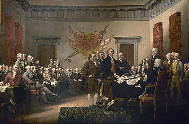 Declaració d' Independència dels EEUU.