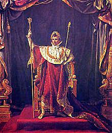 Napoleó es corona emperador de França