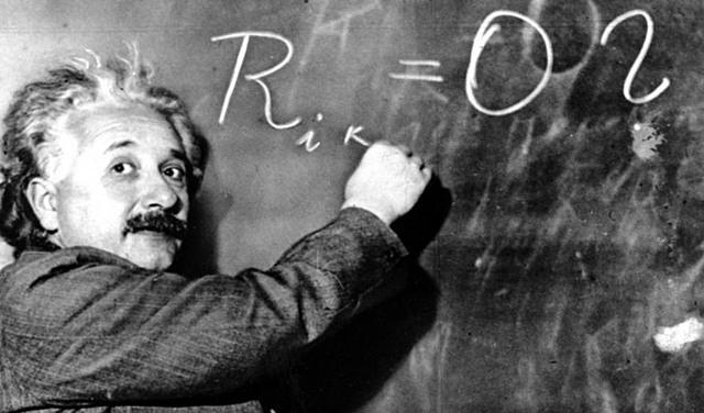 Albert Einstein presenta la formulació de la seva teoria de la relativitat general