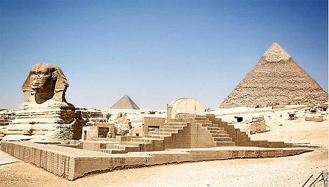 CONSTRUCCION DE LAS PIRAMIDES DE EGIPCIO