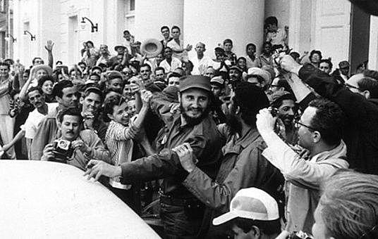Triomf de la Revolució cubana de Fidel Castro.