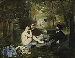Desdejuni sobre l'herba o Dinar campestre d'Edouard Manet.