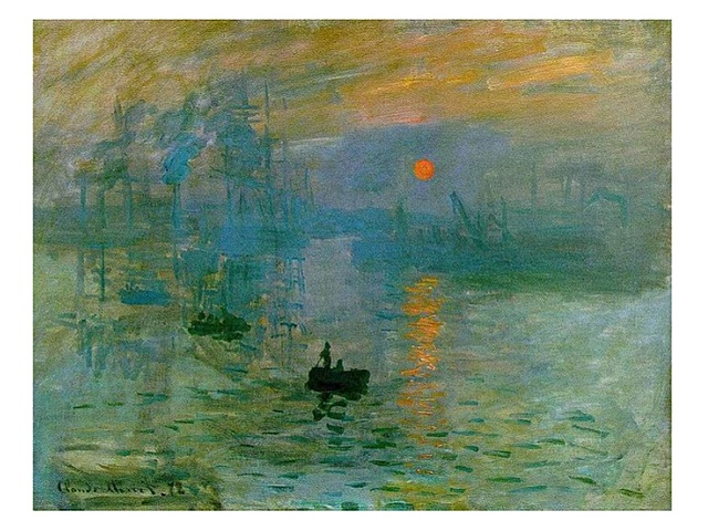Sol ixent, impressió de Claude Monet