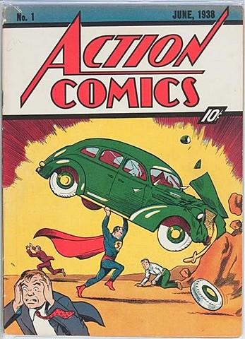 Primera aparició de Superman a la Revista Action Comics de Jerry Siegel i Joe Shuster.