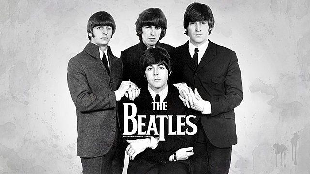 Surt la banda britànica Els Beatles.