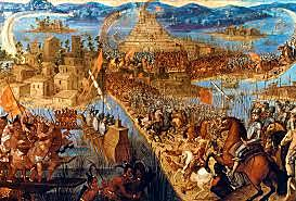 Hernan Cortes overthrows the Aztec Empire