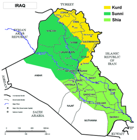 Split between Sunni and Shi'ite