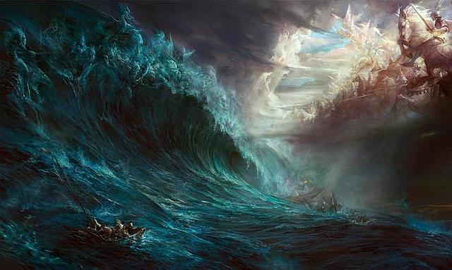 En una tempestad