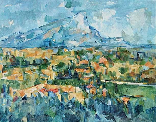 Monntagne Sainte-Victoire, Cézanne