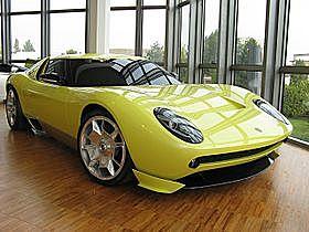 Lamborghini miura concepten: hittar inte motorn