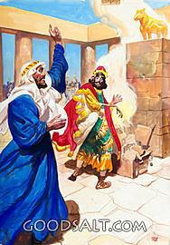 An Unknown Prophet Curses Jeroboam's Altar