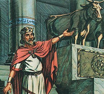 Jeroboam makes two golden calves