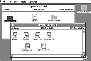 El Sistema 1 (System 1.0: Primera versión del sistema Macintosh.