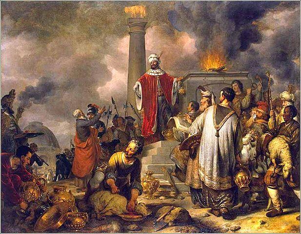 Prophet Curses Jeroboam's Alter