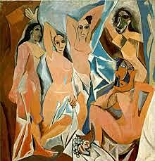 Les senyoretes del carrer d'Avinyó, Picasso