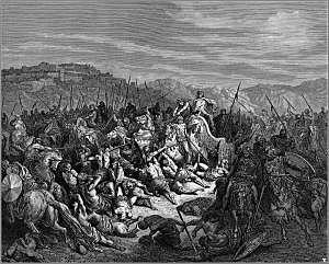 Ahabs war with the king of Syria.
