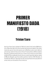 Es publica el Manifest dadaista de Tristan Tzara