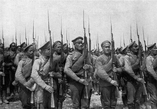 RUSSIA JOINS THE FIRST WORLD WAR