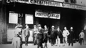 La salida de los obreros de la fábrica Lumière (La sortie des ouvriers des usines Lumière en Lyon)